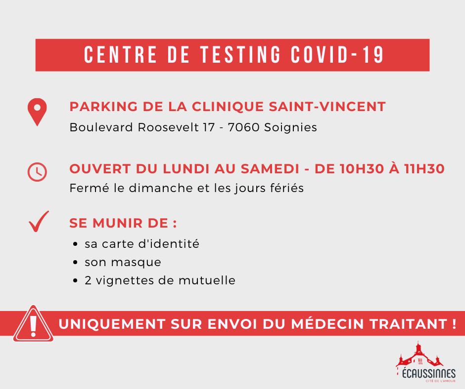 Covid 19   Centre de testing   Juin